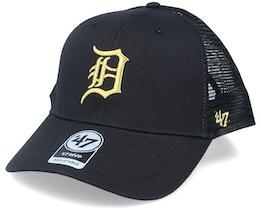 Detroit Tigers Branson Metallic Mvp Black/Gold Trucker - 47 Brand