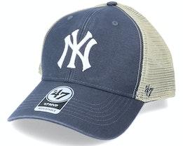 New York Yankees Flagship Wash Mvp Vintage Navy/Beige Trucker - 47 Brand