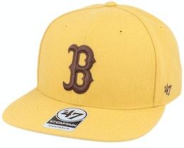 Boston Red Sox No Shot Captain Wheat/Brown Snapback - 47 Brand