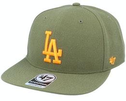 Los Angeles Dodgers No Shot Captain Sandalwood Green/Orange Snapback - 47 Brand