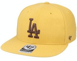 Los Angeles Dodgers No Shot Captain Wheat/Brown Snapback - 47 Brand