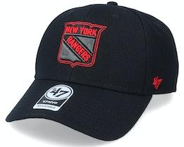 New York Rangers Mvp Black/Red Outline Adjustable - 47 Brand