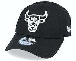 Chicago Bulls NBA Essential Outline 9Forty Black/White Adjustable - New Era