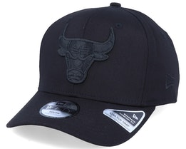 Kids Chicago Bulls Tonal 9Fifty Stretch Snap Black/Black Adjustable - New Era