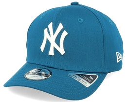 Kids New York Yankees League Essential 9Fifty Stretch Snap Teal/White Adjustable - New Era