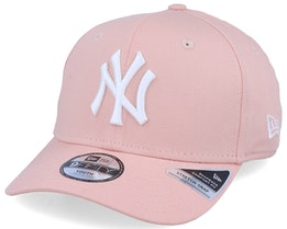 Kids New York Yankees League Essential 9Fifty Stretch Snap Peach/White Adjustable - New Era