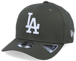 Kids Los Angeles Dodgers League Essential 9Fifty Stretch Snap November Green/White Adjustable - New Era