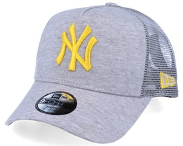 Kids New York Yankees Jersey Essential 9Forty A-Frame Heather Grey/Yellow Trucker - New Era