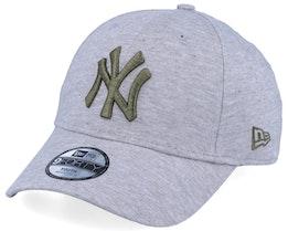 Kids New York Yankees Jersey Essential 9Forty Heather Grey/Green Adjustable - New Era