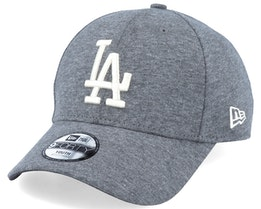 Los Angeles Dodgers Jersey Essential 9Forty Heather Dark Grey/White Flexfit - New Era