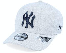 Kids New York Yankees Heather Base 9Fifty Heather Grey/Dark Navy Adjustable - New Era