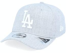 Kids Los Angeles Dodgers Heather Base 9Fifty Ss Heather Grey/White Adjustable - New Era