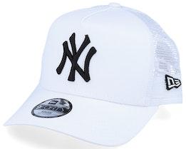 Kids New York Yankees Essential 9Forty A-Frame White/Black Trucker - New Era