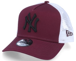 Kids New York Yankees Essential 9Forty A-Frame Maroon/White/Black Trucker - New Era