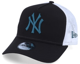 Kids New York Yankees Essential 9Forty A-Frame Black/White/Steel Blue Trucker - New Era