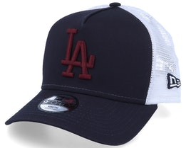 Kids Los Angeles Dodgers Essential 9Forty A-Frame Navy/White/Maroon Trucker - New Era