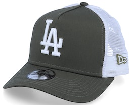 Kids Los Angeles Dodgers Essential 9Forty A-Frame Olive/White Trucker - New Era