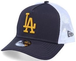 Kids Los Angeles Dodgers Essential A-Frame Dark Grey/White Trucker - New Era