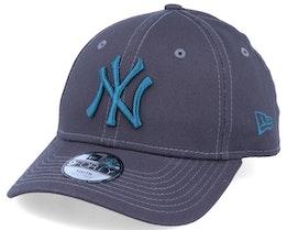 Kids New York Yankees Essential 9Forty Dark Grey/Steel Blue Adjustable - New Era