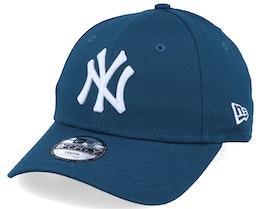 Kids New York Yankees Essential 9Forty Dark Teal/White Adjustable - New Era
