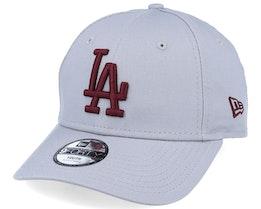 Kids Los Angeles Dodgers Essential 9Forty Light Grey/Crimson Adjustable - New Era