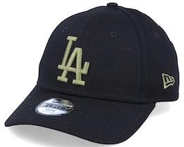 Kids Los Angeles Dodgers Essential 9Forty Black/Olive Adjustable - New Era