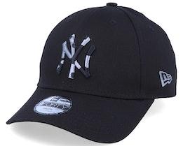 Kids New York Yankees Camo Infill 9Forty Black/Black Camo Adjustable - New Era