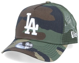 Kids Los Angeles Dodgers Essential 9Forty A-Frame Camo/White Trucker - New Era