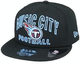 Tennessee Titans NFL 20 Draft Alt 9Fifty Black Snapback - New Era