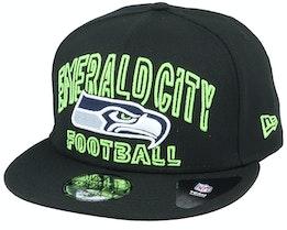 Seattle Seahawks NFL 20 Draft Alt 9Fifty Black Snapback - New Era