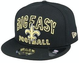 New Orleans Saints NFL 20 Draft Alt 9Fifty Black Snapback - New Era