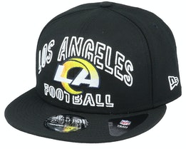 Los Angeles Rams NFL 20 Draft Alt 9Fifty Black Snapback - New Era