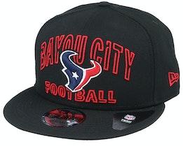 Houston Texans NFL 20 Draft Alt 9Fifty Black Snapback - New Era