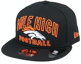 Denver Broncos NFL 20 Draft Alt 9Fifty Black Snapback - New Era