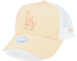 Los Angeles Dodgers Womens League Essential Peach/White Trucker - New Era