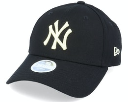 New York Yankees Womens League Essential 9Forty Black/Light Yellow Adjustable - New Era