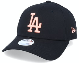 Los Angeles Dodgers Womens League Essential 9Forty Black/Peach Adjustable - New Era