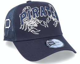 Pittsburgh Pirates Tech Fabric Licensed Navy Trucker - New Era