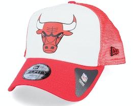 Kids Chicago Bulls Colour Block White/Red Trucker - New Era