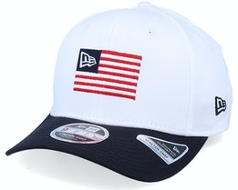 Flagged 9FIFTY Stretch Snap White/Navy Adjustable - New Era