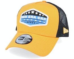 NE Star Patch Orange/Black Trucker - New Era