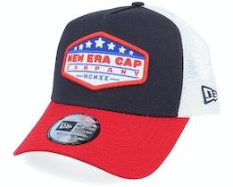 NE Star Patch Navy/Red/White Trucker - New Era