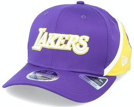 Los Angeles Lakers 9FIFTY NBA Stretch Snap Hook Purple/Yellow Adjustable - New Era