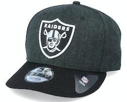 Oakland Raiders Heather Crown 9Fifty Black Adjustable - New Era