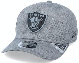 Las Vegas Raiders Engineered Plus 9Fifty Stretch Snap Dark Grey Adjustable - New Era