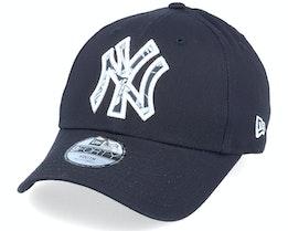 Kids New York Yankees 9Forty Infill Neyyan Navy/Pattern Adjustable - New Era