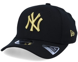 Hatstore Exclusive NY Yankees Black/Gold Stretch Snap - New Era