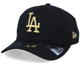 Hatstore Exclusive LA Dodgers Black/Gold Stretch Snap - New Era