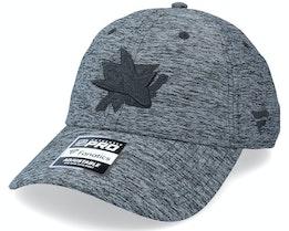San Jose Sharks Authentic Pro T&T Unstructured Black Dad Cap - Fanatics
