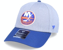 New York Islanders Grey Marl Unstructured Sports Grey/Blue Dad Cap - Fanatics